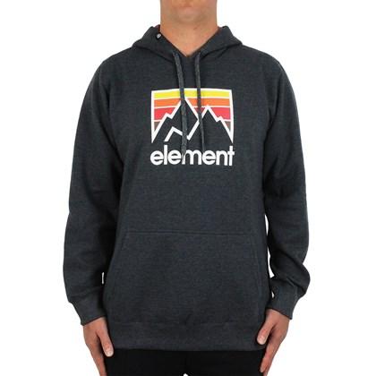 Moletom Extra Grande Element Joint Hood Cinza Chumbo
