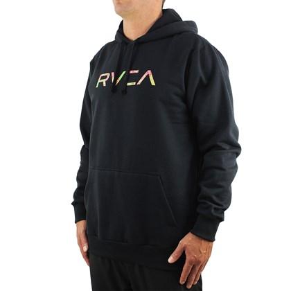 Moletom Extra Grande RVCA Wonder Canguru Black