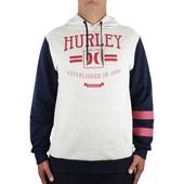 Moletom Hurley New Dawn Canguru Off White Mescla