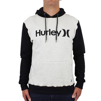 Moletom Hurley Start Canguru Off White Mescla