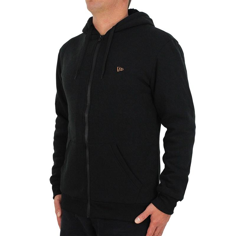 Moletom New Era Essentials Flag Sherpa Black