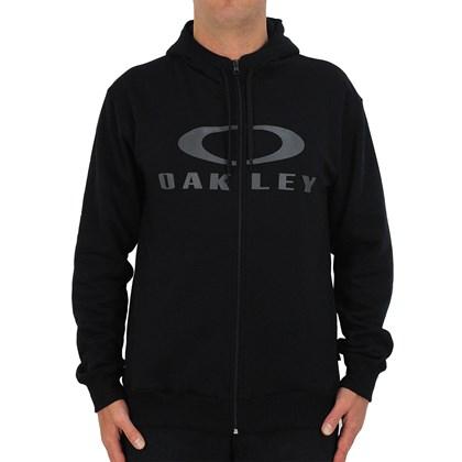 Moletom Oakley Bark Canguru Blackout