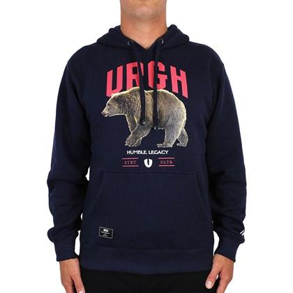 Moletom Urgh Bear Canguru Fechado Azul Marinho