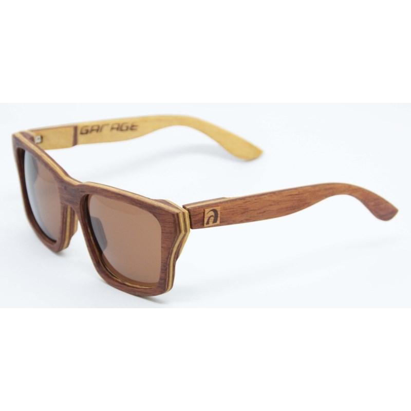 Óculos de Madeira Maresias Garage X Surf Alive Cedro