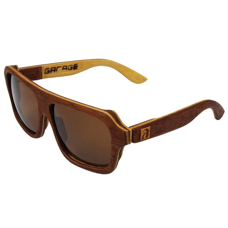 Óculos de Madeira Paúba Garage X Surf Alive Cedro
