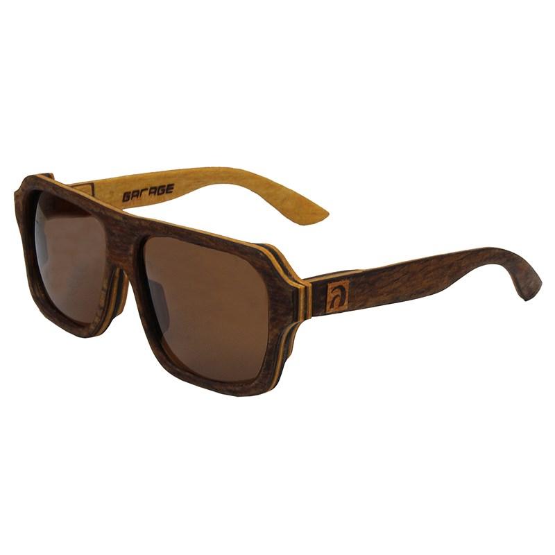 Óculos de Madeira Paúba Garage X Surf Alive Imbuia