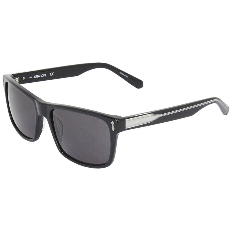 Óculos de Sol Dragon DR515S Blindside Shiny Black Smoke
