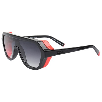 Óculos de Sol Evoke Avalanche Dive A08 Black Shine Orange Fluor Gray Gradient