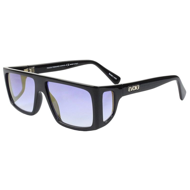 Óculos de Sol Evoke B-Side A01 Black Shine Gold Blue Gradient