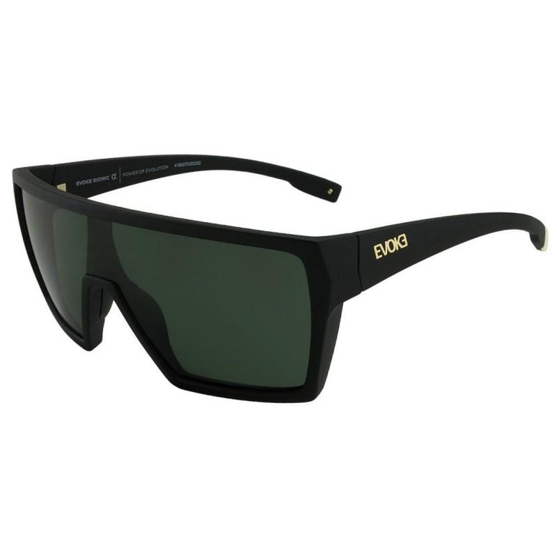 Óculos De Sol Evoke Bionic Alfa Black Matte G15 Total