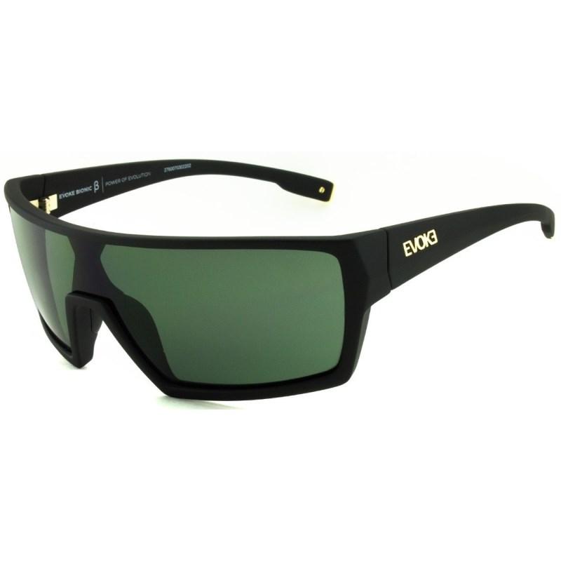 Óculos De Sol Evoke Bionic Beta Black Matte G15 Total