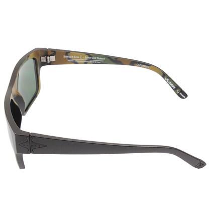 Óculos De Sol Evoke Capo I Pedro Barros Black Matte Silver Green Total