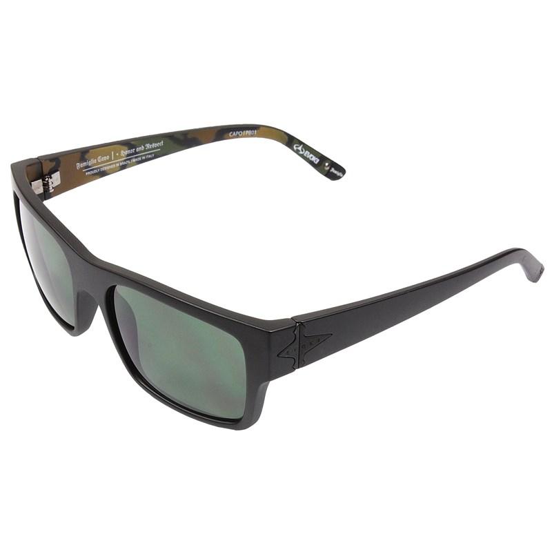 ae5fd7e20643f Óculos De Sol Evoke Capo I Pedro Barros Black Matte Silver Green Total