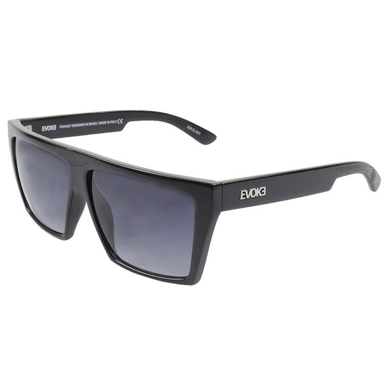 Oculos de Sol Evoke Evk 15 A01 Black Shine Silver Gray Gradient