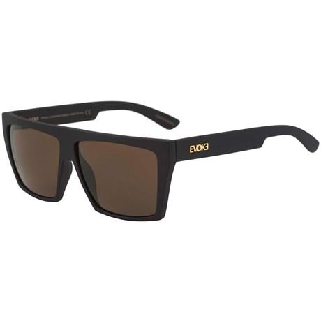 Óculos De Sol Evoke EVK 15 Black Matte Gold G15 Green Total