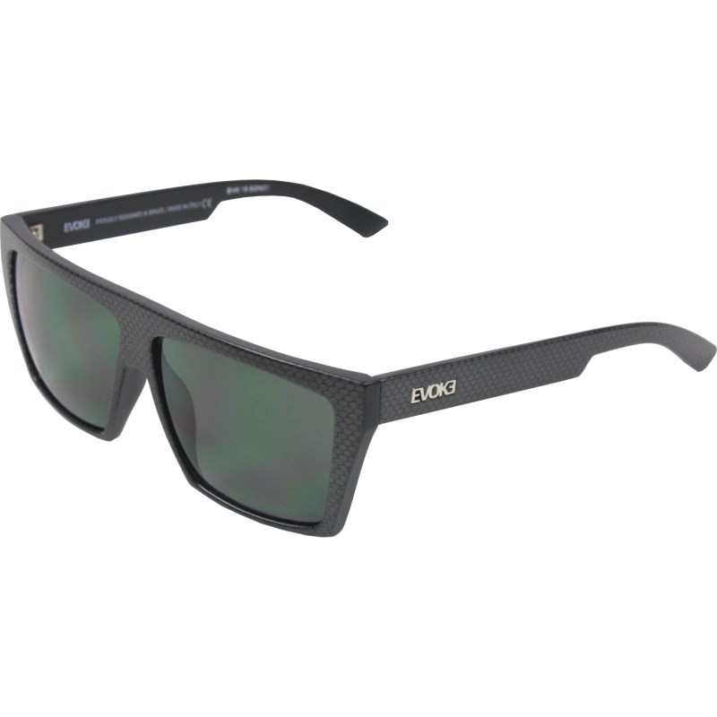 Óculos De Sol Evoke EVK 15 Black Signs Silver Green Total