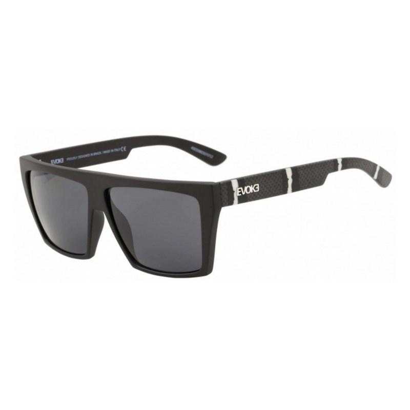 1b362e05006c0 Óculos De Sol Evoke EVK 15 Black Temple Snake Mode Gray Total - Surf ...