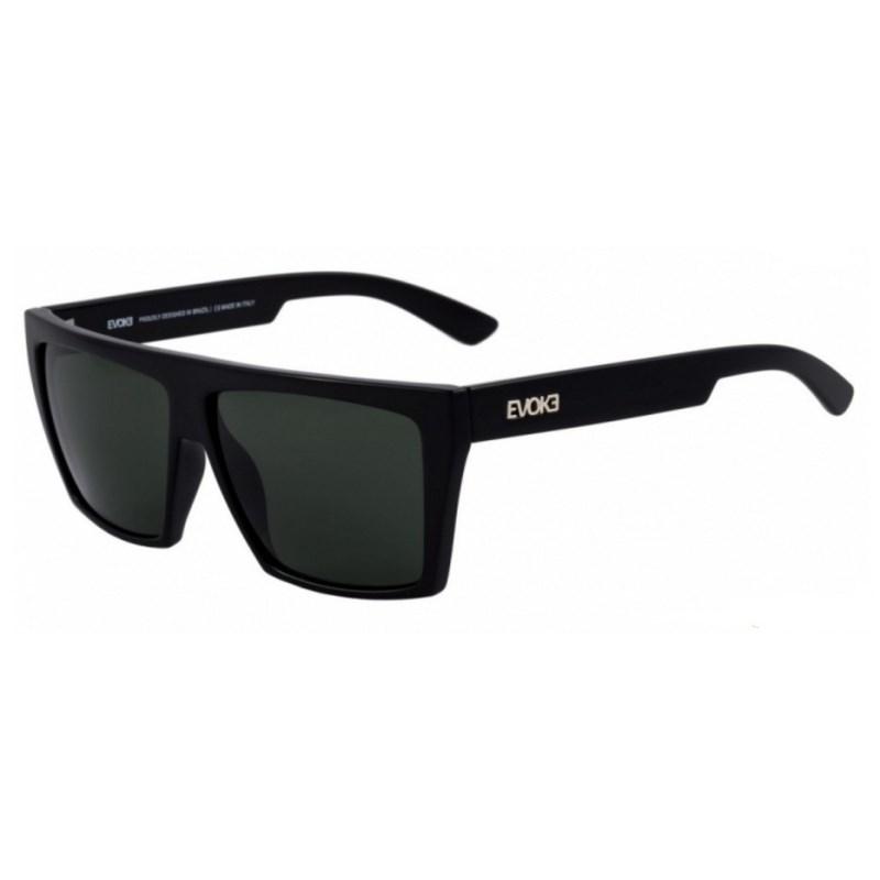 Óculos De Sol Evoke EVK 15 New Black Shine Silver G15 Total