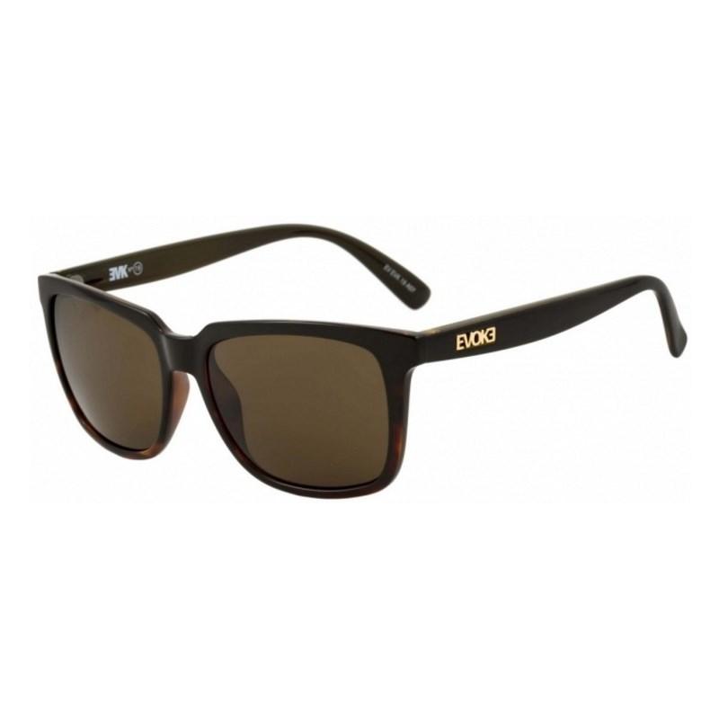 Óculos De Sol Evoke EVK 19 Black Demi Shine Gold Brown Total
