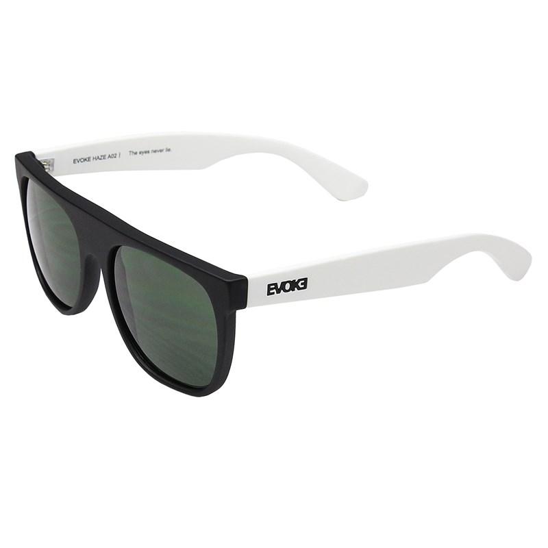 Óculos de Sol Evoke Haze A02 Black Temple White Black G15 Green Total