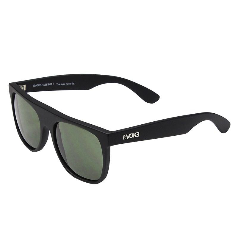 Óculos de Sol Evoke Haze B01 Black Matte Silver G15 Green Total