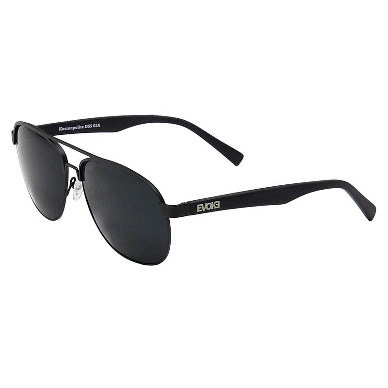 Óculos de Sol Evoke Kosmopolite DS5 02A Matte Black Silver Gray ... 88bb04f1cc