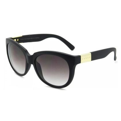 Óculos De Sol Evoke Mystique Black Matte Gold Brown Gradient ... 6ed57ff6d5
