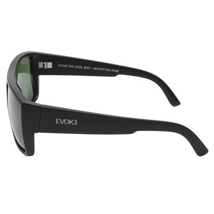Óculos De Sol Evoke The Code Black Matte Silver Green Total