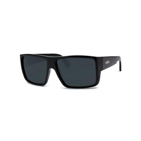 Óculos De Sol Evoke The Code Black Shine Silver Gray Total