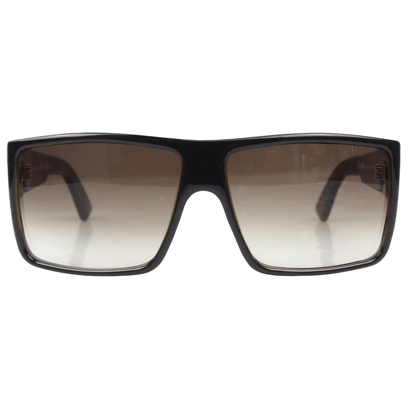 Óculos De Sol Evoke The Code RK01 Black Radica Gold Brown Gradiente