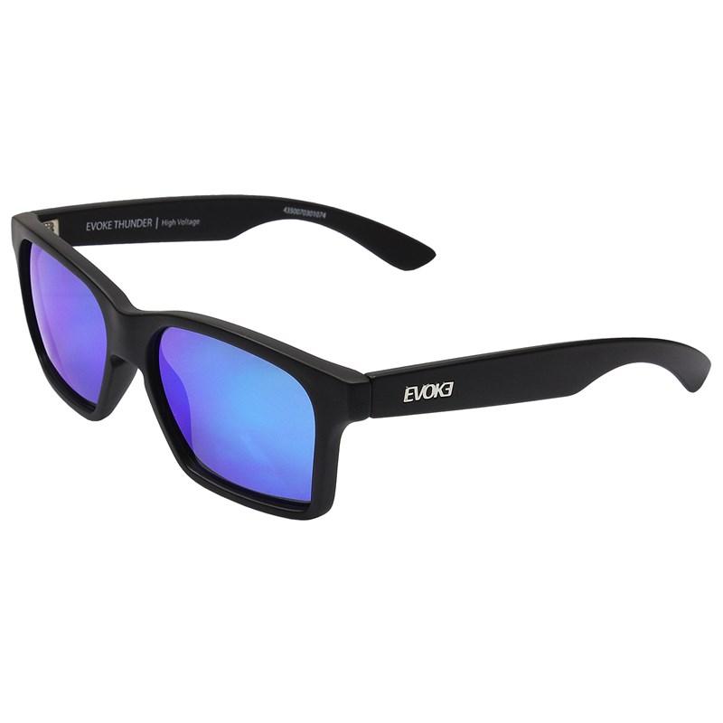 3fe9c8b9567a0 Óculos de Sol Evoke Thunder A14S Black Matte Silver Blue Mirror ...