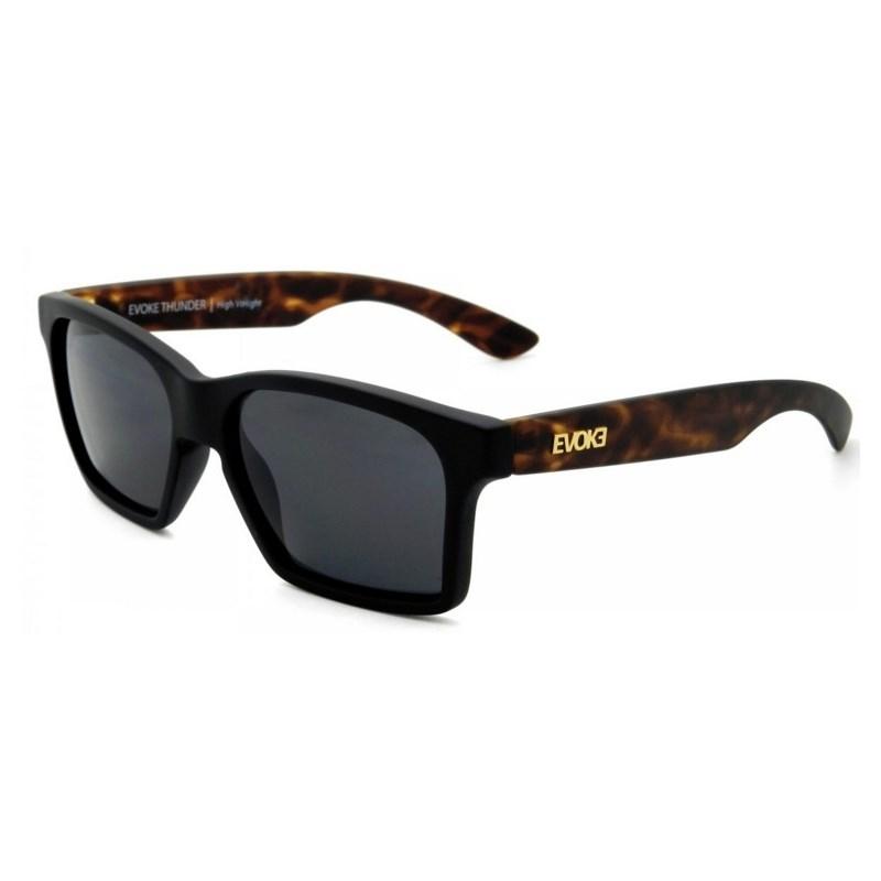 Óculos de Sol Evoke Thunder Black Temple Turtle Matte Gray Total