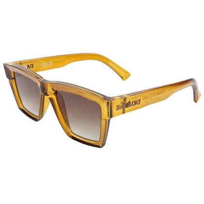 Óculos de Sol Evoke Time Square Yago Dora YD01 Crystal Ambar Caramel Brown Gradient