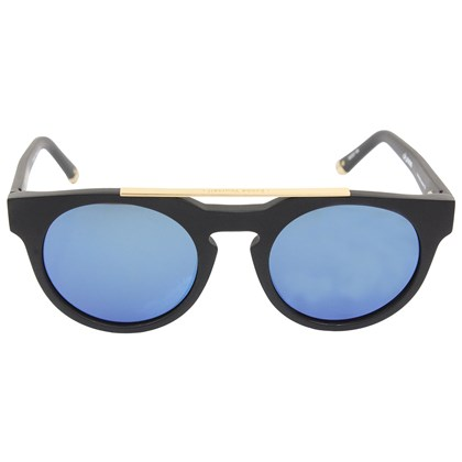 Óculos de Sol Evoke Upper III A01B Black Matte Gold Blue Flash Mirror