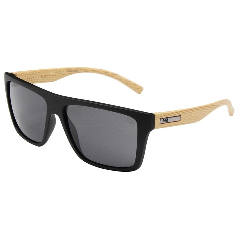 40e277db63cdd Óculos de sol HB Floyd Matte Black Wood Gray - Surf Alive