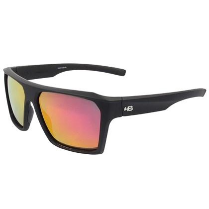 Óculos de Sol HB Split Carvin Matte Black D. Red Polarized Red