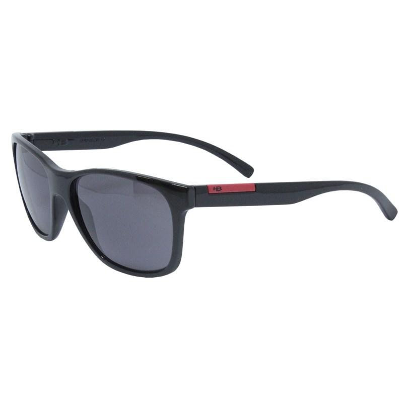 Óculos de Sol HB Underground Gloss Black Dark Red Gray Lenses