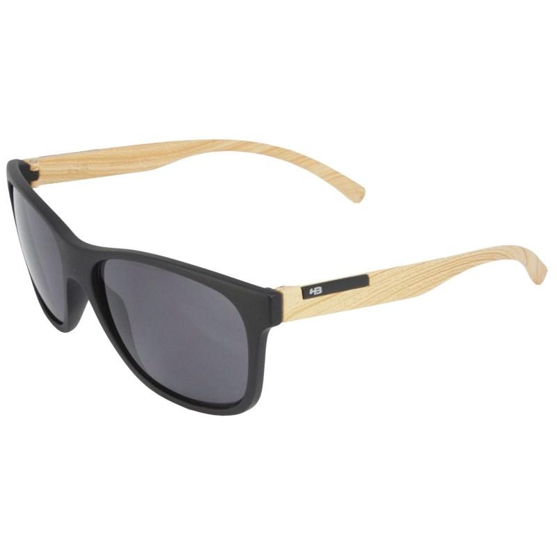 Óculos de Sol HB Underground Matte Black Wood Gray Lenses