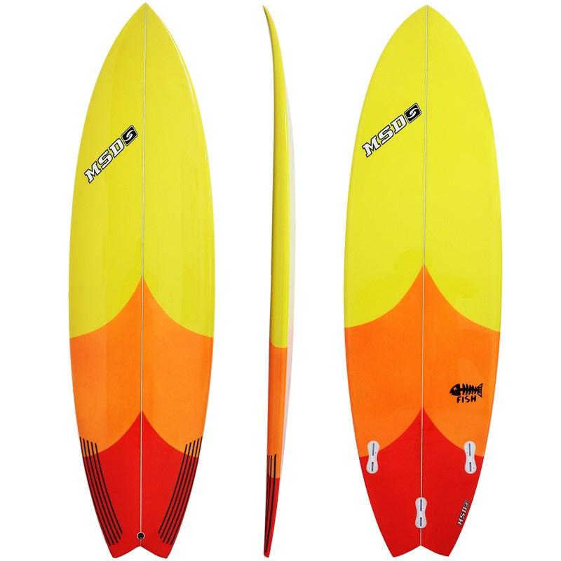 Prancha de Surf MSD Surfboards Fish 6.4