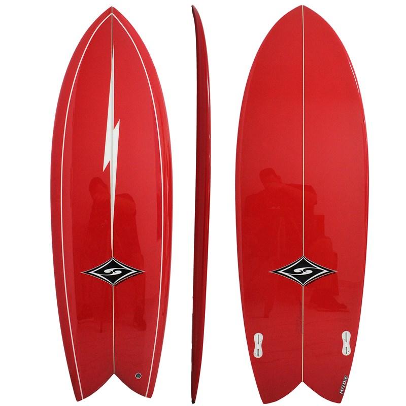 Prancha de Surf MSD Surfboards Fish Retrô Biquilha 5.10