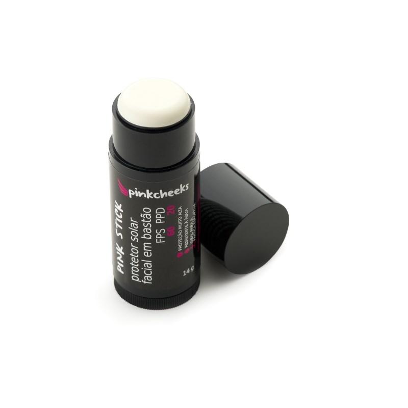 Protetor Solar Facial em Bastão Pink Cheeks FPS 60 / PPD 20 Incolor