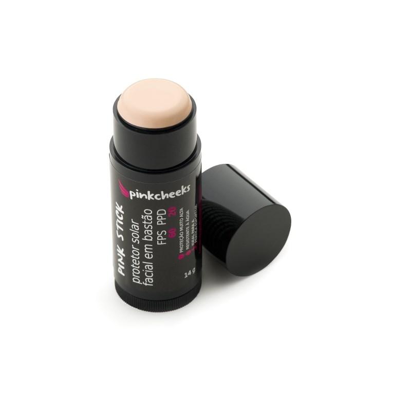 Protetor Solar Facial em Bastão Pink Cheeks FPS 60 / PPD 20 Pele Bem Clara