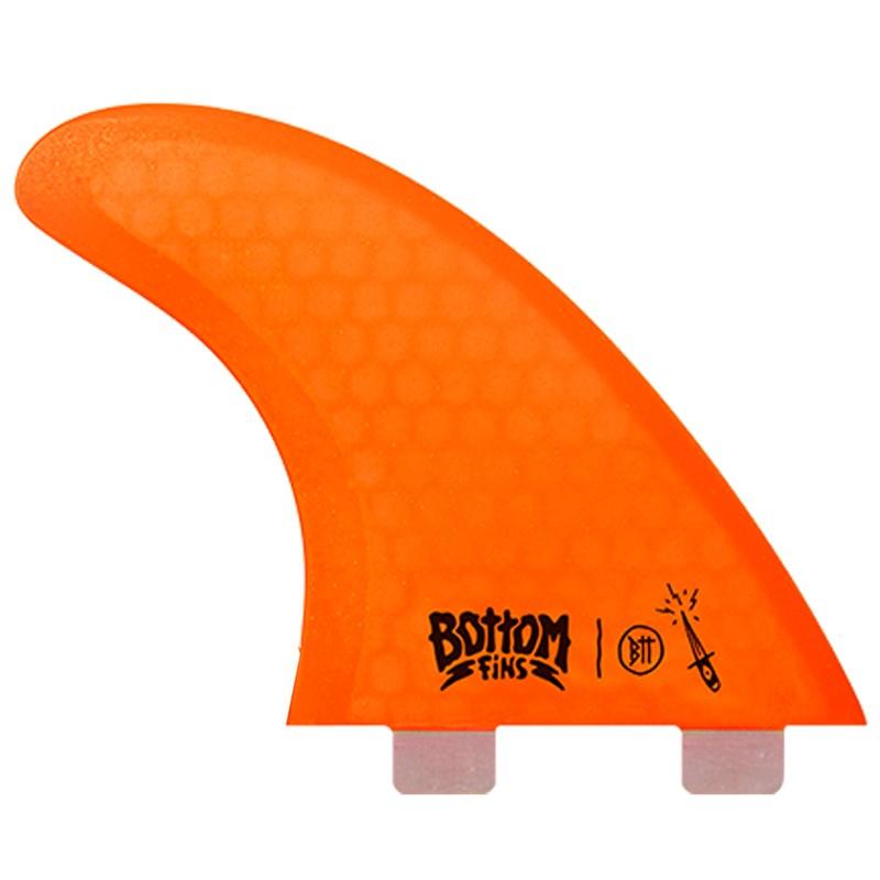 Quilha Bottom Fins BTT Honeycomb Large Laranja