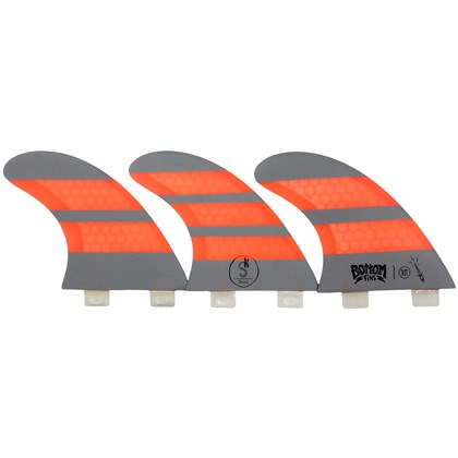 Quilha Bottom Fins BTT Small Design Laranja