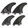 Quilha Shapers Fins Carbon Stealth Quad E Large