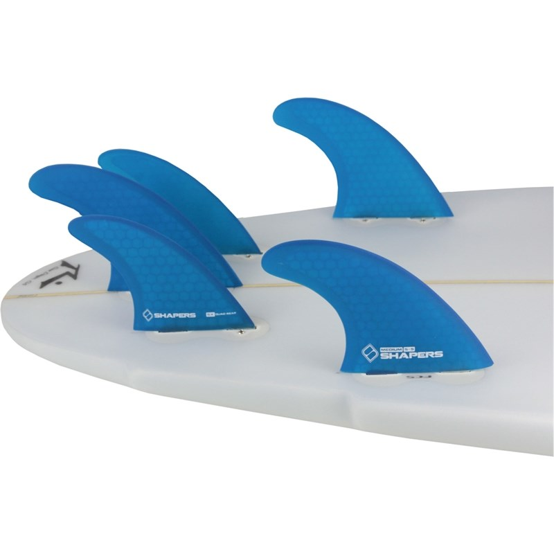 Quilha Shapers Fins S-5 Tri-Quad Medium Azul