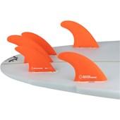 Quilha Shapers Fins S-5 Tri-Quad Medium Laranja