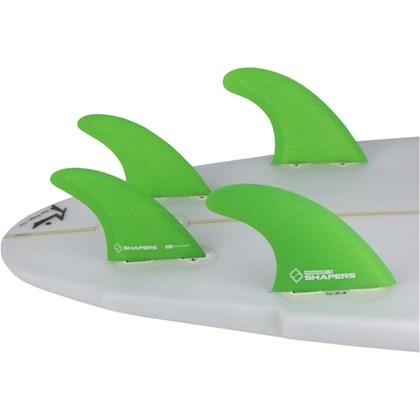Quilha Shapers Fins S-5 Tri-Quad Medium Verde