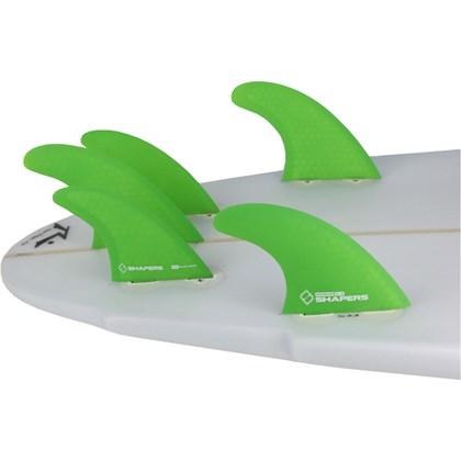 Quilha Shapers Fins S-5 Tri-Quad Medium Verde