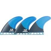 Quilha Silver Bay Future SB5 Matt Half Carbon Azul
